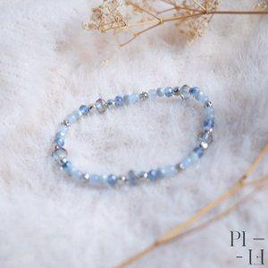 2/50$ bracelet natural tinted jade gemstones
